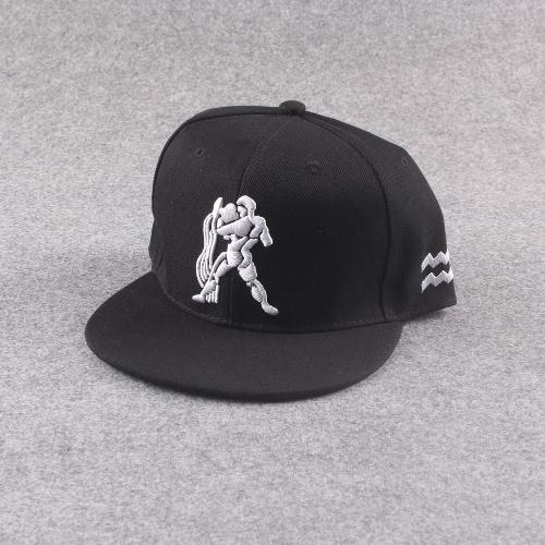 Neue Mode Männer Frauen Mütze Muster Stickerei Augen Snap zurück flache Hut Baseball Hip-Pop Cap schwarz