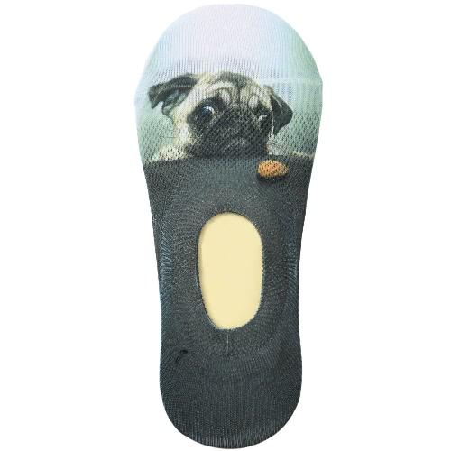 Calcetines nuevos calcetines de las mujeres ocasionales lindo del estampado de animales escotado respirable No-Show Liner antideslizante