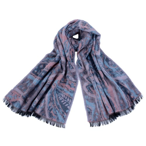 New Fashion Women Warm Scarf Splice Color Large Contrast Poncho Shawl Pashmina Casual Cape