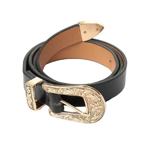 Las nuevas mujeres de moda de cuero de la vendimia de la cintura de la correa de metal hebilla de la correa de cintura de la pretina