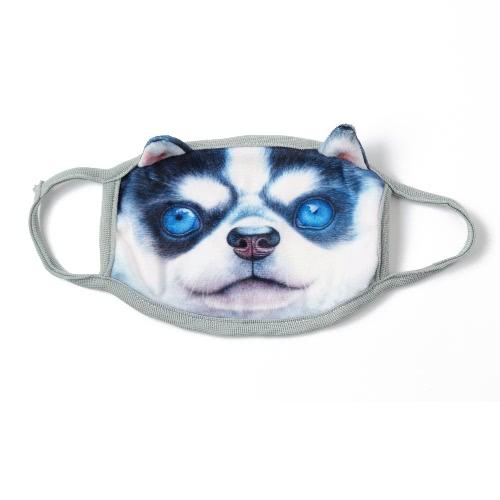 Nueva moda unisex Boca Máscara animal caras 3D de dibujos animados de impresión anti-polvo no médico creativo de mufla