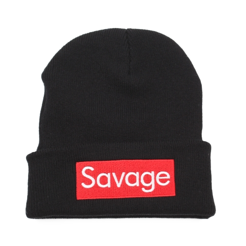 Mujeres Hombres Rose Bordado Savage Beanie Hats bordado flor de punto gorras calientes al aire libre Skullies Gorras