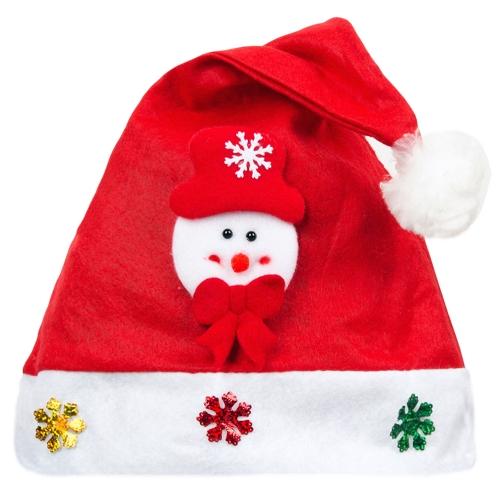 Bambino Bambino Adulto Bambino Adorabile Cappello Di Natale Bambini Babbo Natale Renna Pupazzo di neve Cute Cap Party Decorazione Festival