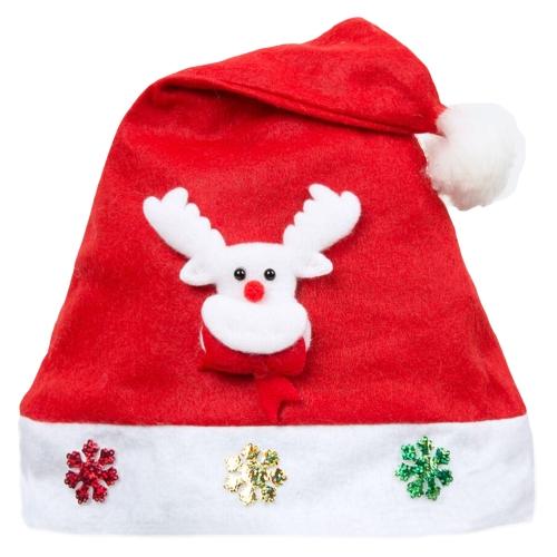 Kid Adult Cheer Christmas Hat Niños Santa Claus Reno muñeco de nieve Cute Cap Party Festival Decoration