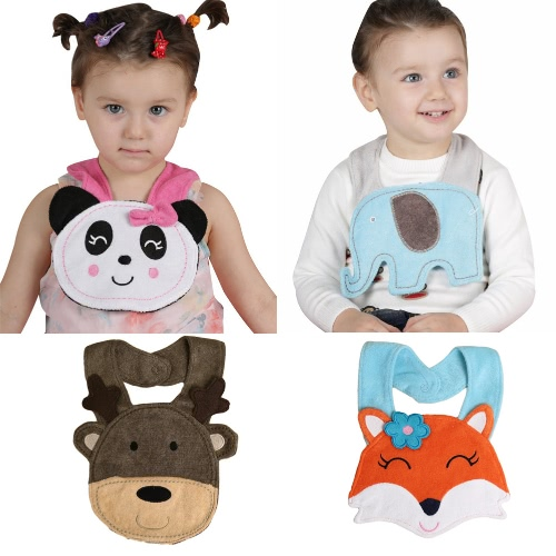 Baby Kids Cartoon Lunch Bib Cute Animal Embroidery Cotton Waterproof Boys Girls Slaliva Towel Bib Burp Cloths