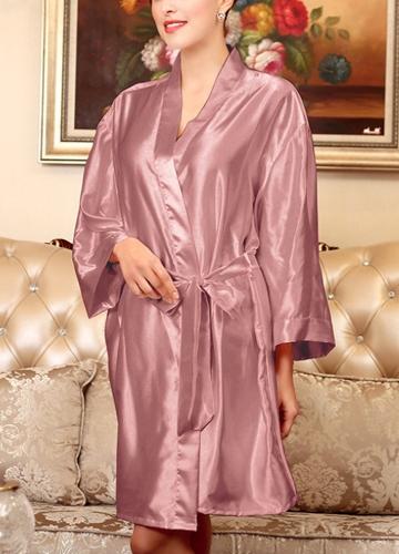 Las mujeres de seda del satén del traje de noche albornoz corto Kimono bata camisón camisón