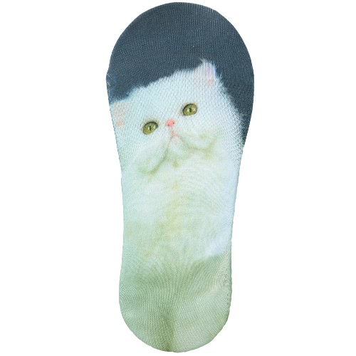New Women Casual Low Cut Socks Lovely Animal Print Breathable Non-Slip Design No-Show Liner Invisible Socks