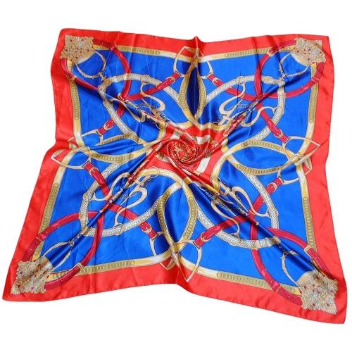 Las nuevas mujeres pañuelo Pañuelo de contraste de impresión elegantes bufandas del mantón de la mancha delgada