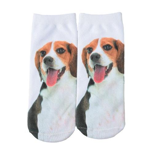 Neue Art und Weise Frauen-Socken Netter Hund Print Low Cut Breath Stretchy beiläufige Socken