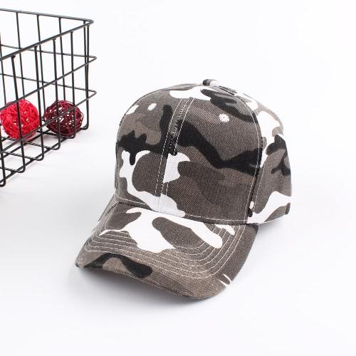 Nuevos hombres de la manera de las mujeres de béisbol Cap Camuflaje Unisex Hip-Pop hueso Tactical Sunscreen Cap