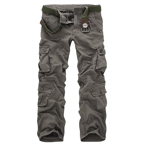 Men's Cargo Pants Military Army Pants Baggy Tactical Outdoor Casual Long Trousers