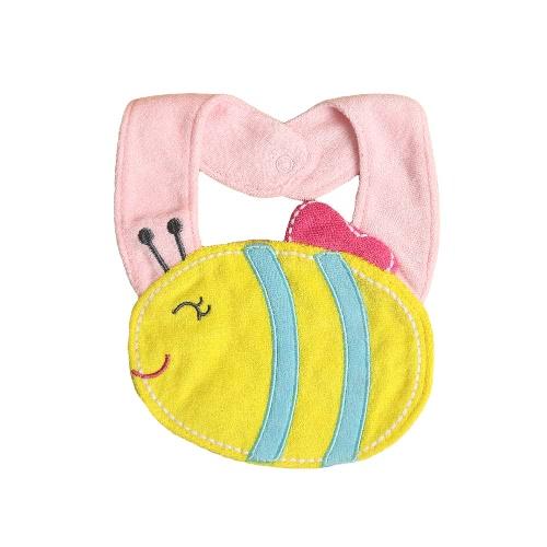 Lindo bebé niños historieta infantil baberos animales Saliva suave impermeable toalla dentición babero niño eructo paños
