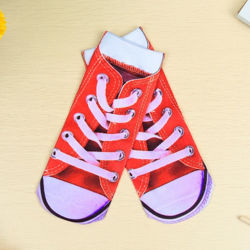 Słodkie Kolorowe Cartoon 3D Print Low Cut Ankle Casual Skarpetki dla Unisex