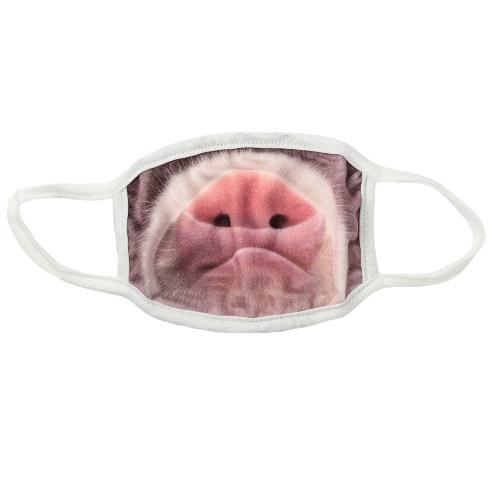 Unisex divertido 3d Impreso Boca Máscara Cara humana, Boca-Oreja de mufla máscara anti-polvo bucle creativo Boca gasa
