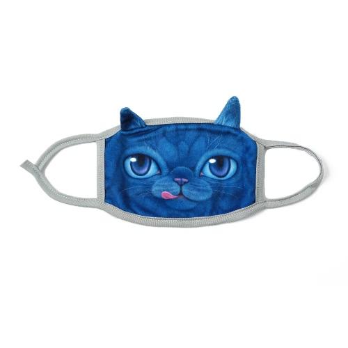 New Fashion Unisex Mouth Mask 3D Animal Faces Cartoon Print Anti-Dust Nonmedical Creative Muffle
