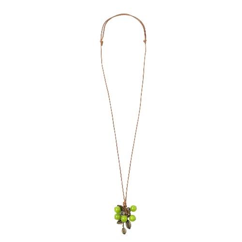 Colar Folha New Mulheres Moda Verde Bodhi Vintage Bead Pingentes Bohemia Long corda camisola cadeia colar de jóias