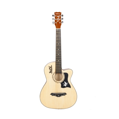 DK-38C Basswood Gitarrentasche Gurte Picks LCD Tuner Pickguard Saitensatz Holzfarbe
