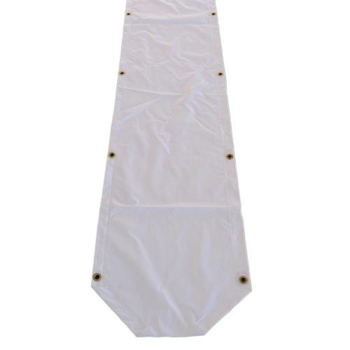 PVC Regenrinne 8m, weiß - Partyzelt