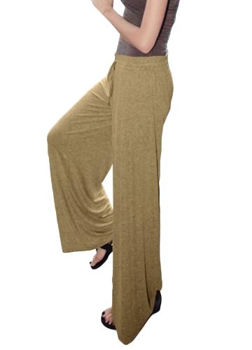 Winter Woman Loose Wide Leg Pants Solidna, elastyczna talia Eleganckie spodnie Casual Solid