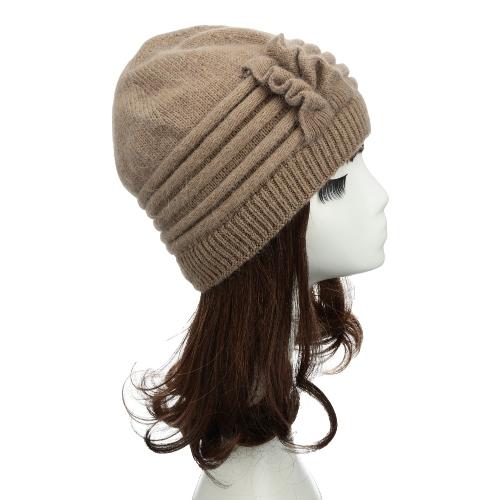 Nueva moda mujer de punto sombrero colmena ornamento grueso calentador Cap Headwear de muchos colores