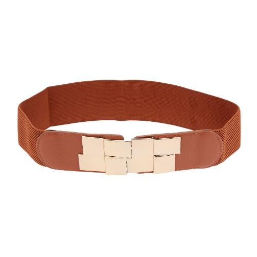 Nueva moda mujer cinturón de lentejuelas cierre delantera Fajín elástico elástico cinturón ancho pretina