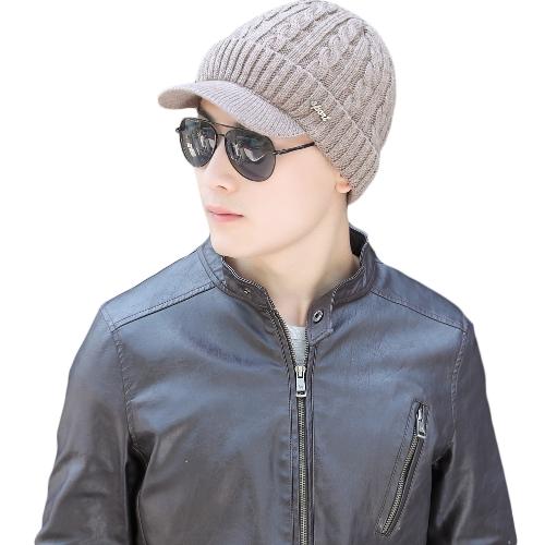 Los hombres de moda de punto Beret Crochet Slouch Baggy Beanie Winter Warm Hat Cap Headwear