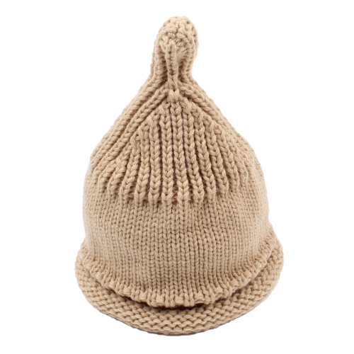 Cute Kid Girls Boys Knitted Beanies Hat Cálido acanalado Baby Skullies Gorras de otoño invierno