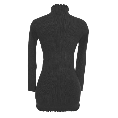 Women Slim Bodycon Dress Autumn Winter High Neck Long Sleeve Knitted Elastic Sweater Party Night Dress