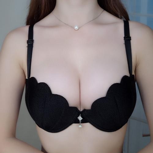 Nuevo sujetador de mujer sexy sujetador Push Up ultra-delgado 3/4 taza de gancho y ojo sujetador respirable