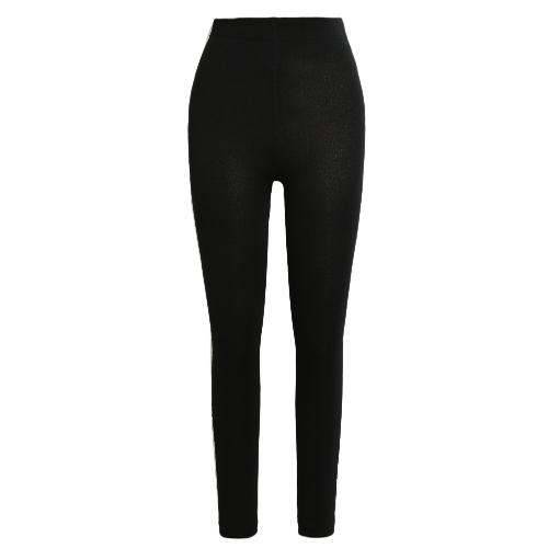 Sexy Frauen Herbst Winter Leggings Solid High Elastische Taille Dicke Warm Strumpfhose Bodycon Hosen
