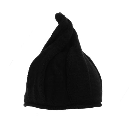 Fashion Women Warm Knitted Cap Windmill Crooked Umbrella Spiral Pointed Hat Beanie