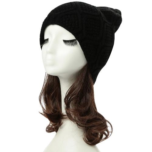 New Inverno Unissex Mulheres Homens Beanie Gorro Cap Quente Headwear Casual