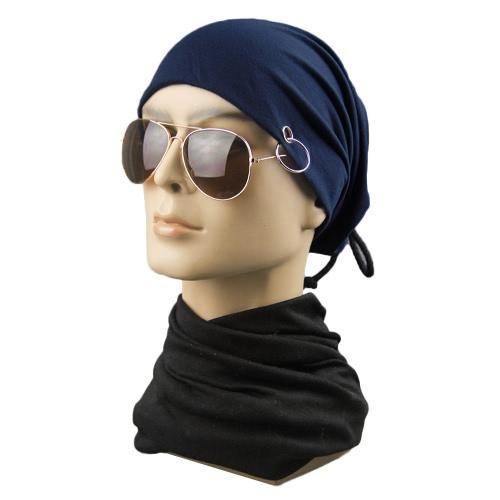 New Men Women Ring Lacing Beanie Baggy Slouchy Adjustable Tie Hip-Hop  Unisex Oversize Skull 4876b34306