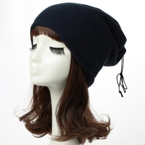 Nuevo invierno unisex Hombres Mujeres paño grueso y suave del sombrero sólido caliente Hip-Hop Casquillo fresco Accesorio de cabeza Pañuelo de cuello