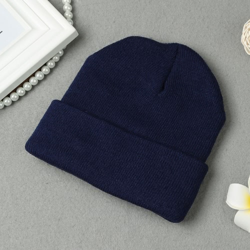 New Fashion Women Knitted Beanie Contrast Embroidered Letters Cool Hip Hop Warm Winter Hat