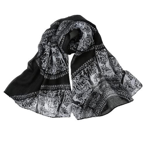 Donne lungo inverno sciarpa scialle tradizionale Totem Stampa Vintage caldo molle sciarpa di autunno Sciarpe Pashmina