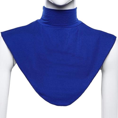 La nueva manera de la bufanda musulmán collar falso color sólido elástico del mantón del cuello ocasional