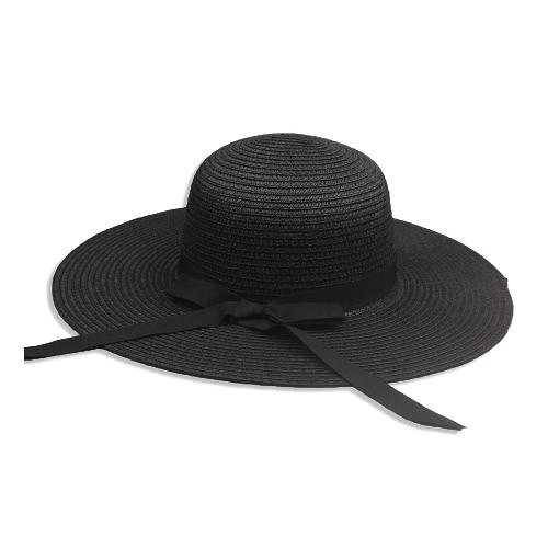 New Elegant Women Chapéu de palha de palha Bowknot Wide Large Brim Foldable casual Summer Holiday Cap