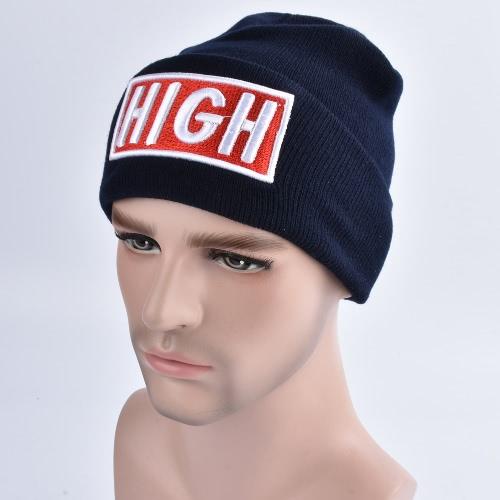 Nuevo sombrero unisex de la letra del sombrero de la gorrita tejida de los hombres de las mujeres caliente Hip-Hop casquillo hecho punto fresco casquillo