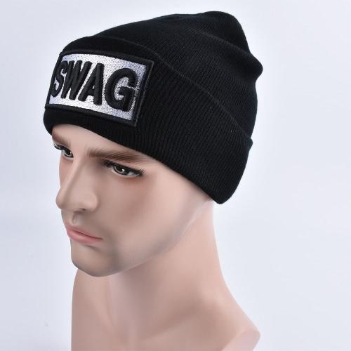 Unisex Männer Frauen Beanies Strickmütze SWAG Letter Skullies Baggy Hip Pop Winter Mütze Caps