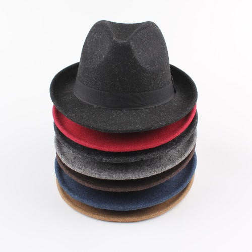 befa6578 Men Women Wide Brim Panama Fedora Hats Jazz Caps Top Beach Visor