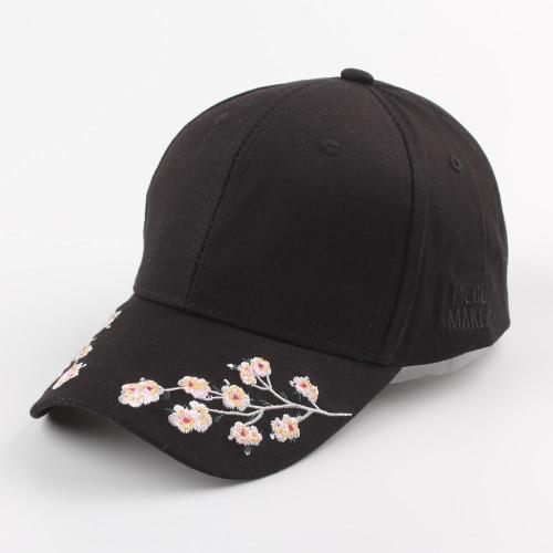 Blumenstickerei Hysteresenhut Buchstabe Sport Hip Hop Frauen Männer Baseball Cap Rosa / Weiß / Schwarz