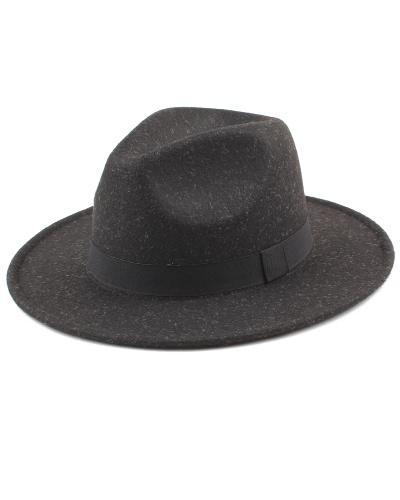 Women Men Unisex Felt Trilby Hats Wide Brim Adjustable Fedora Jazz Hat Caps c00bab642433