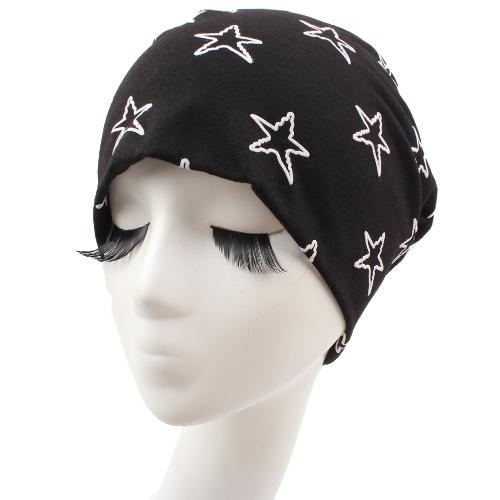 Unisex Männer Frauen Beanie Kontrast Stars Slouchy Baggy Lässig Cool Hip Hop Headwear Skullies Hut