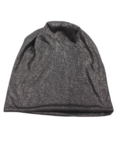 New Fashion Men Mulheres Shimmer Metallic Hat Beanie Cap Skullcaps Solid Unisex Outdoor Caps