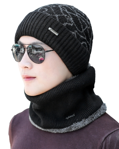 Men Knitted Beanies Hat Dome Ribbed Autumn Winter Cap Quente Skullies Street Hat Headwear