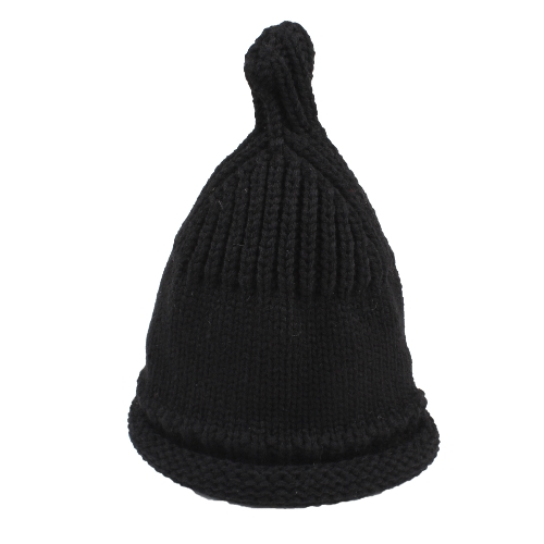 Cute Kid Girls Boys Knitted Beanies Hat Cálido acanalado Baby Skullies Gorras de otoño invierno