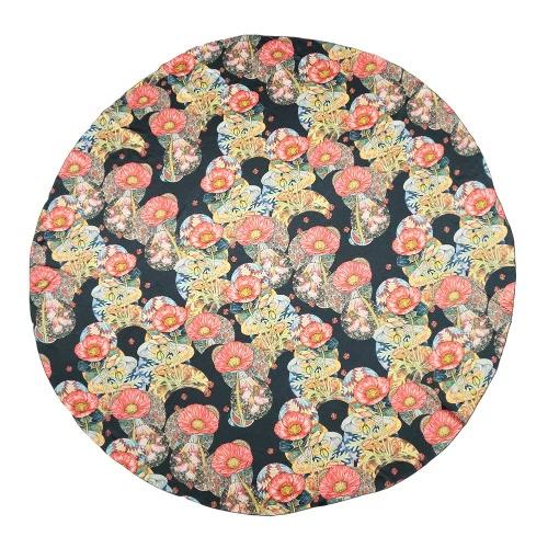 Beach nuove donne di modo telo di raso di poliestere con stampa floreale Color Block di figura rotonda Boho Style Coperta