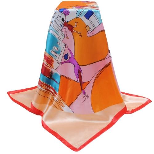 Nuevas mujeres forman la bufanda colorida Plaza de la pequeña ciudad de impresión Shaw Pashima pañuelo elegante delgada bufanda