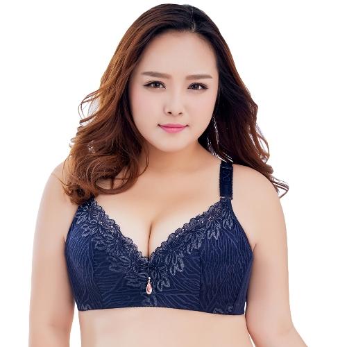 Sexy Frauen Plus Größe 3/4 Tasse Spitze Push-Up Bh Dünnes Licht Gepolsterte Bügel Büstenhalter Unterwäsche Große Tasse